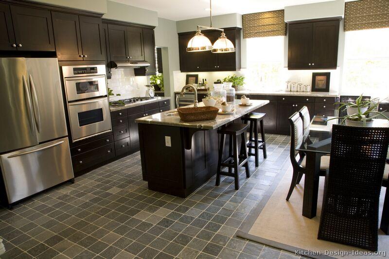Espresso kitchen cabinet Photo - 9