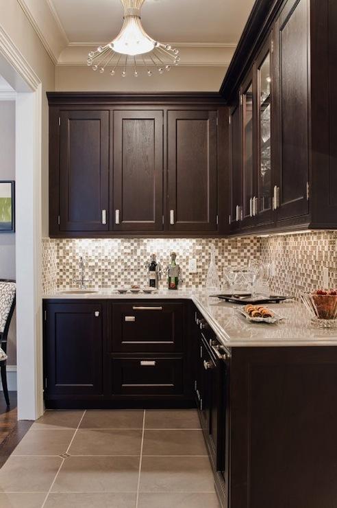 Espresso kitchen cabinet Photo - 12