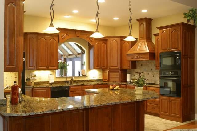 Espresso kitchen cabinet Photo - 1