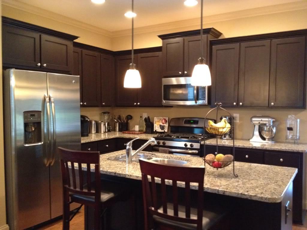 Espresso kitchen cabinet Photo - 2