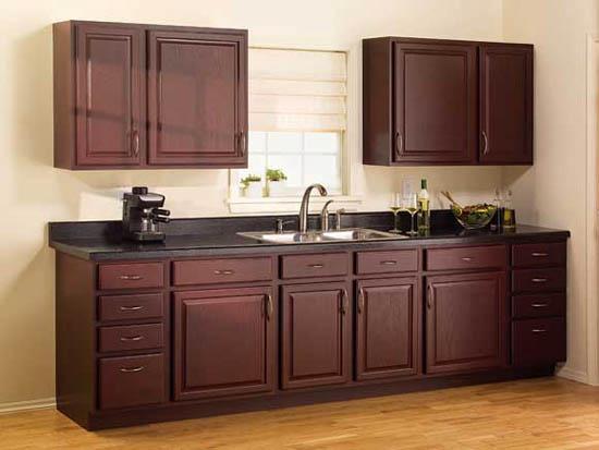 Espresso kitchen cabinet Photo - 5