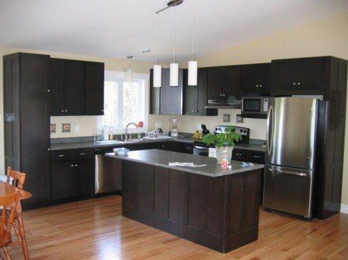 Espresso kitchen cabinet Photo - 8