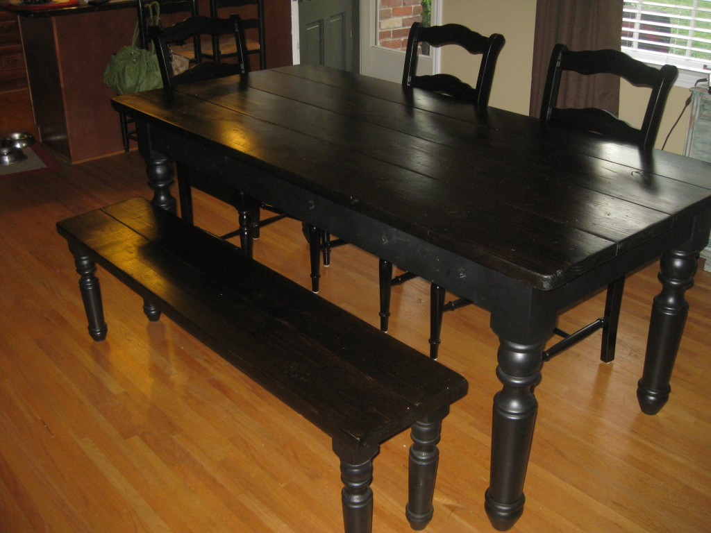 Farmhouse Kitchen Table. Farmhouse Table With Chairs Recovering ...