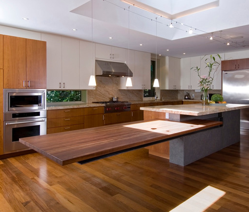Floating Bench Kitchen