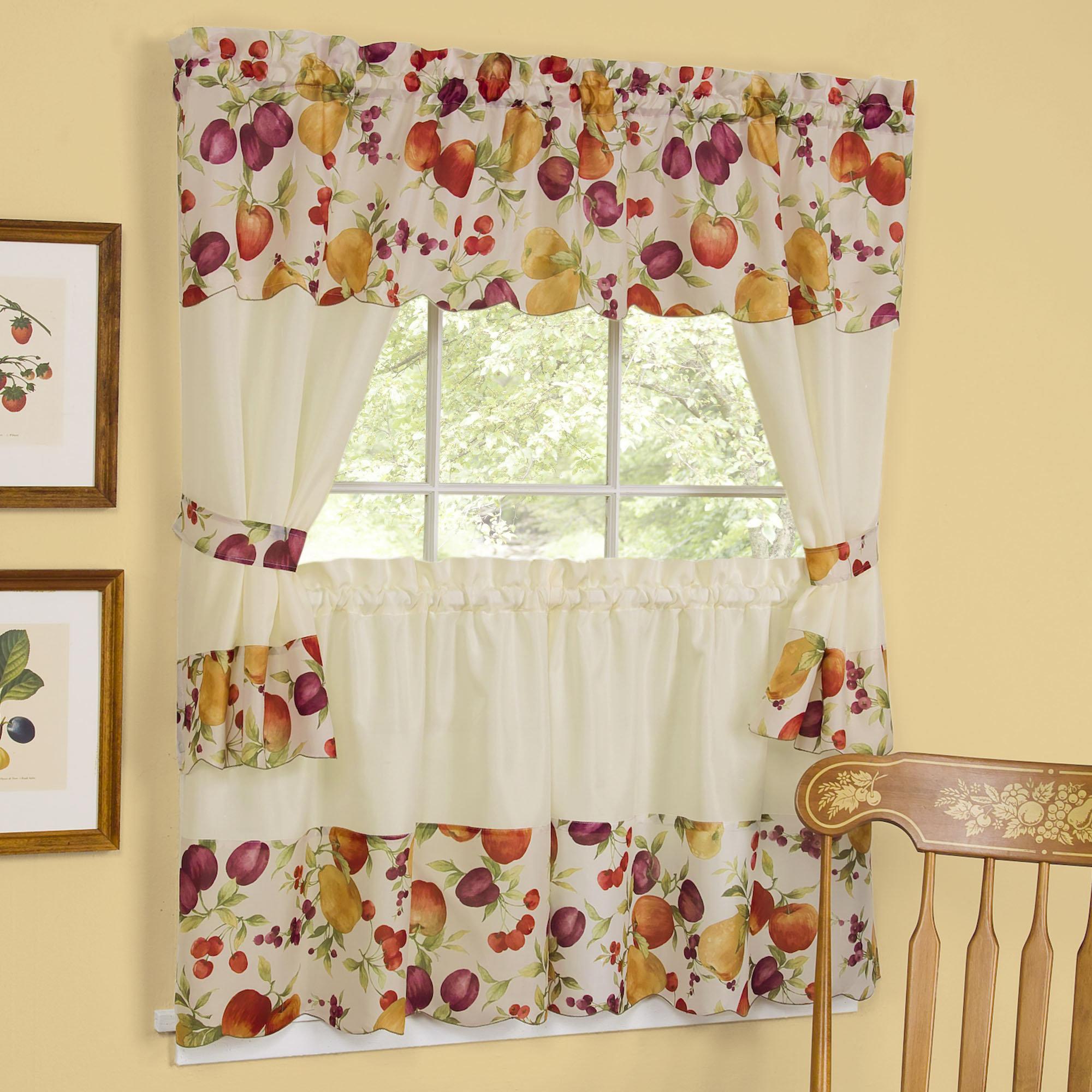 Kitchen Curtains Designs: Fruit Kitchen Curtains Photo - 8