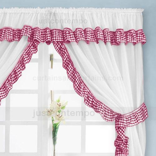 Gingham Kitchen Curtains Photo U2013 8