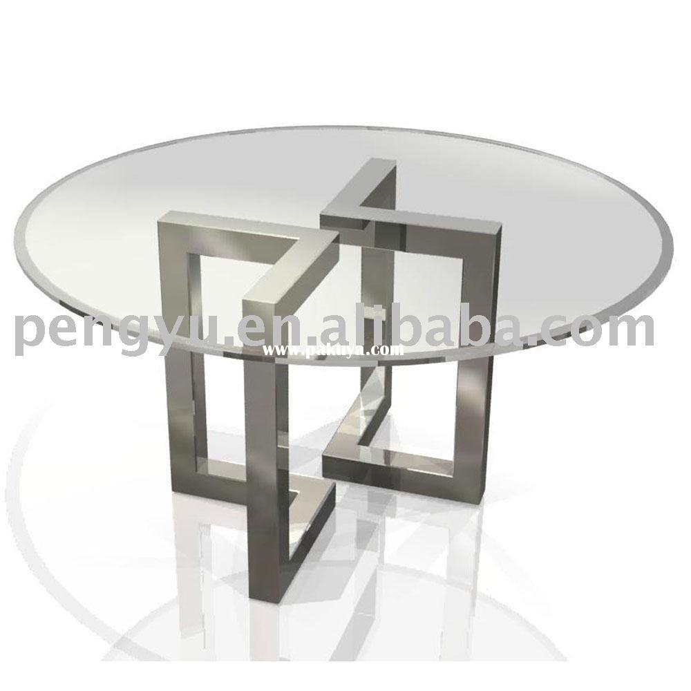 Luxury modern glass dining table tedxumkc decoration for Contemporary round dining table