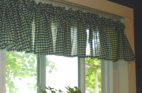 Hunter green kitchen curtains Photo - 3 | Kitchen ideas