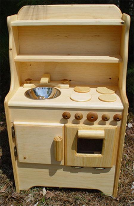 Детская кухня для девочек из дерева своими руками 24