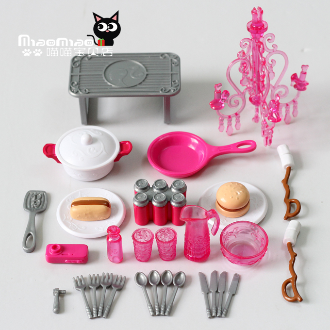 Barbie kitchen accessories images for Kitchen accessories sets
