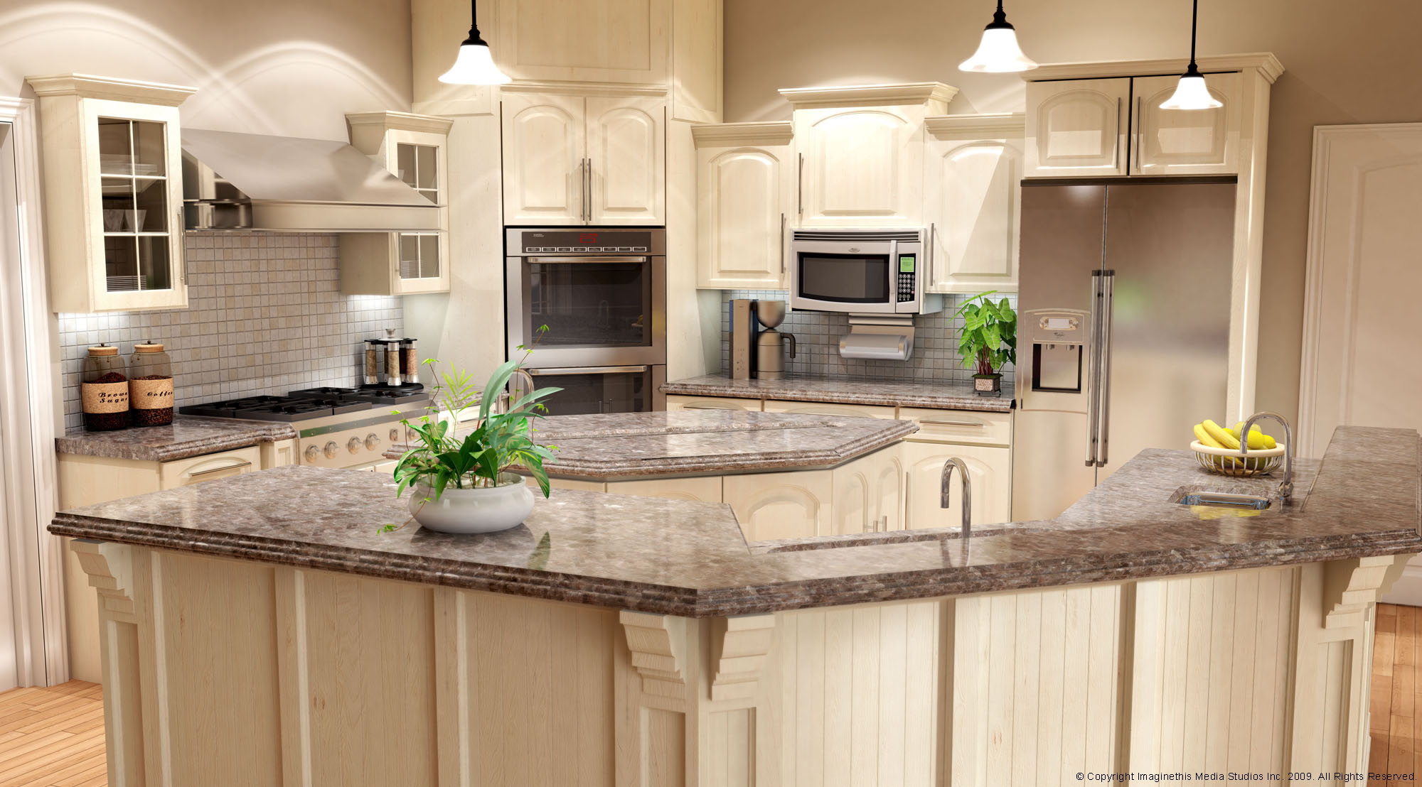 Kitchen armoire cabinets Photo - 11