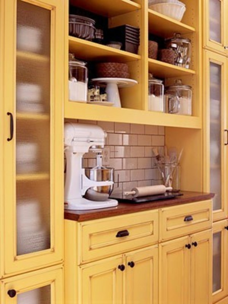 Kitchen armoire cabinets Photo - 12