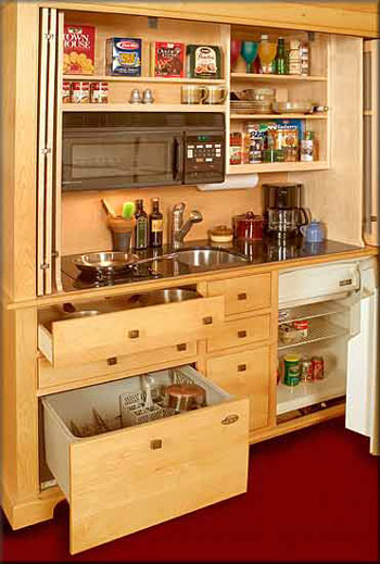 Kitchen armoire cabinets Photo - 2