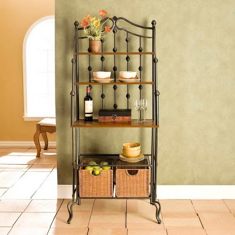 Kitchen bakers rack cabinets Photo - 5