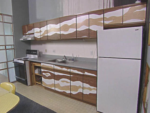 Kitchen cabinet contact paper Photo - 2