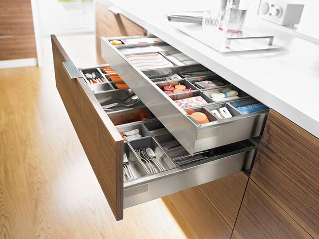 Kitchen cabinet storage inserts
