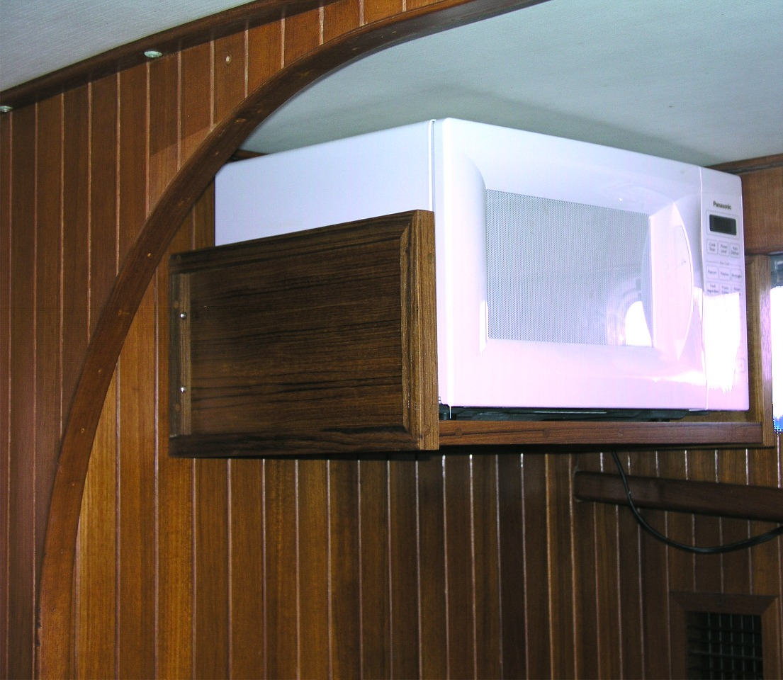 Kitchen cabinet microwave shelf Photo - 1
