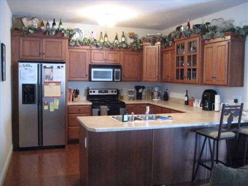 Kitchen cabinet microwave shelf Photo - 3