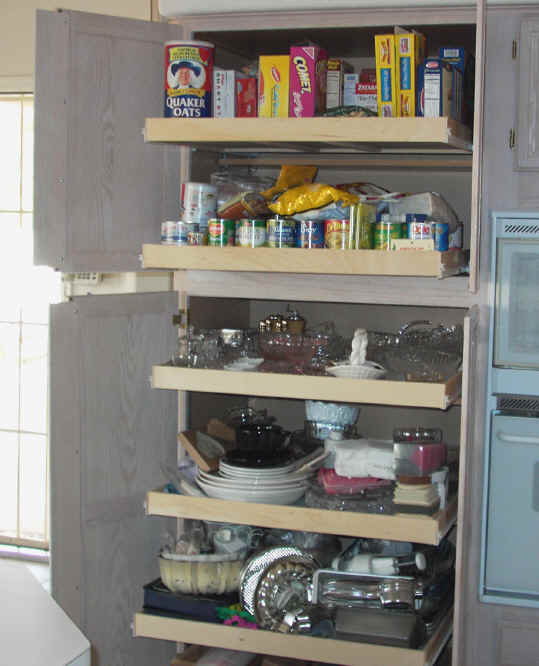 Kitchen cabinet organizers pull out shelves Photo - 6