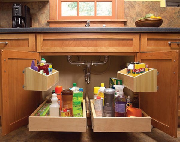 Kitchen cabinet organizing systems Photo - 8