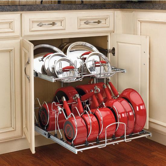 Kitchen cabinet pot organizer Photo - 3