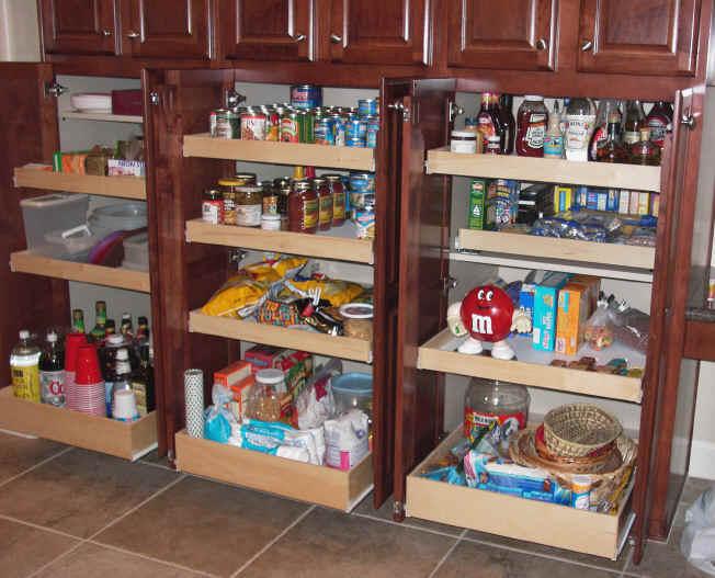 Kitchen cabinet shelves Photo - 3