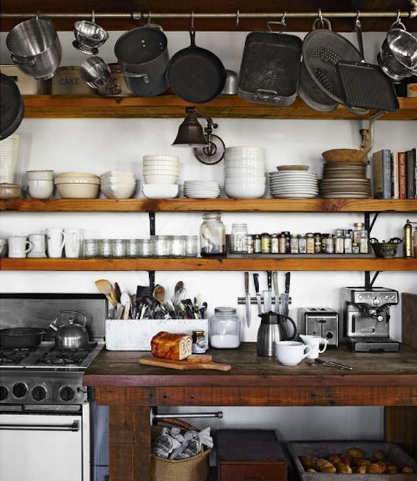 Kitchen cabinet shelving Photo - 9