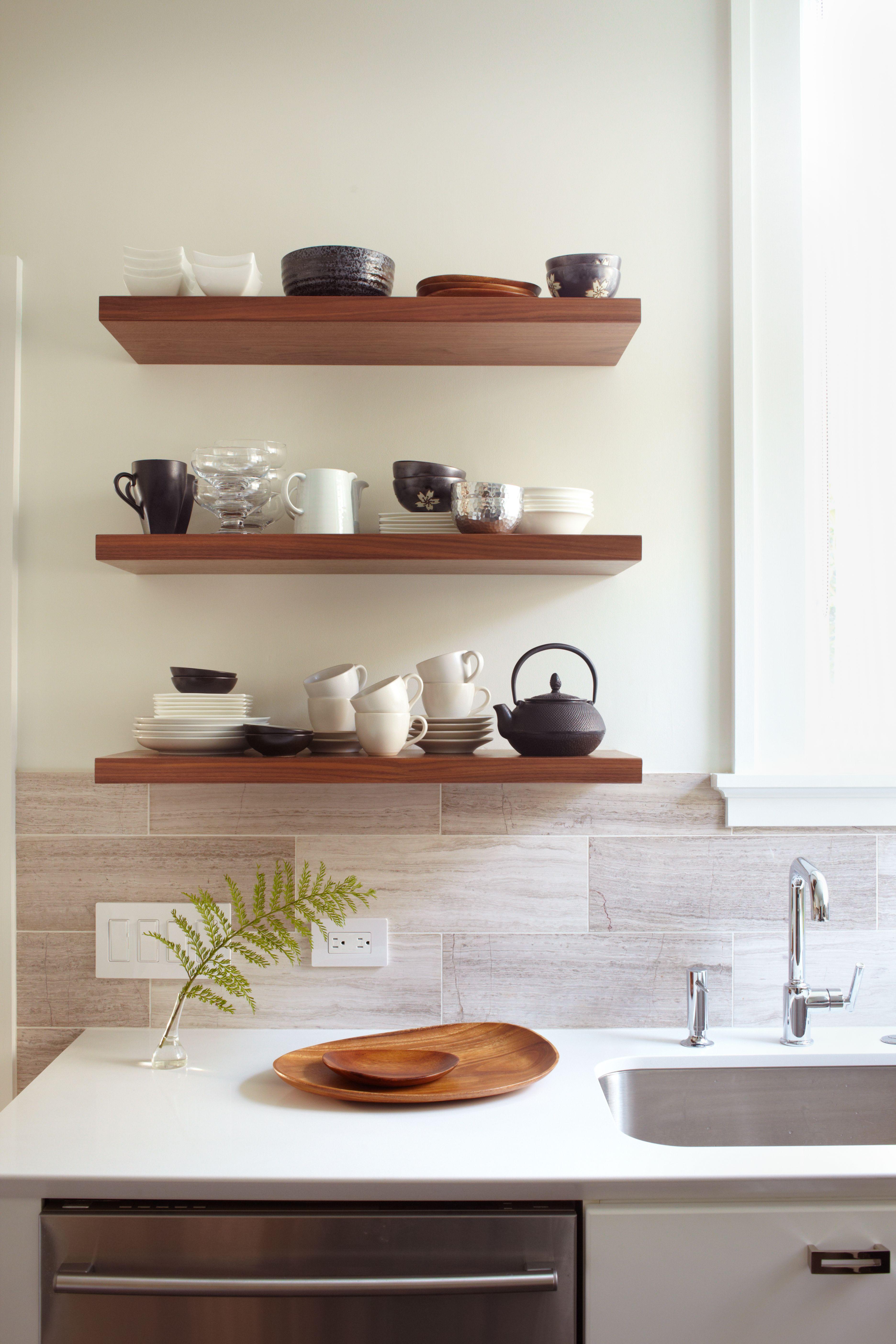 Kitchen cabinet shelving Photo - 10
