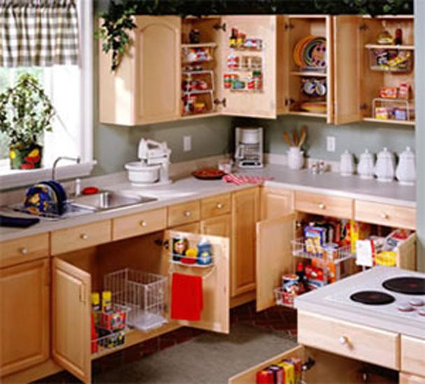 Kitchen cabinet shelving Photo - 6