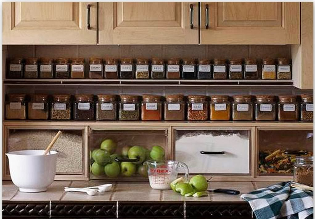 10 Photos To Kitchen Cabinet Spice Rack