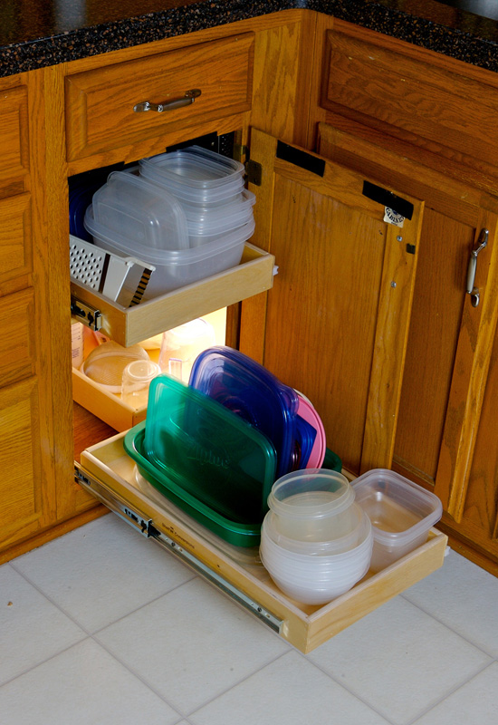 Kitchen cabinet storage solutions Photo - 11