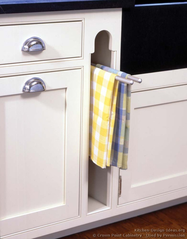 kitchen cabinet towel bar kitchen ideas