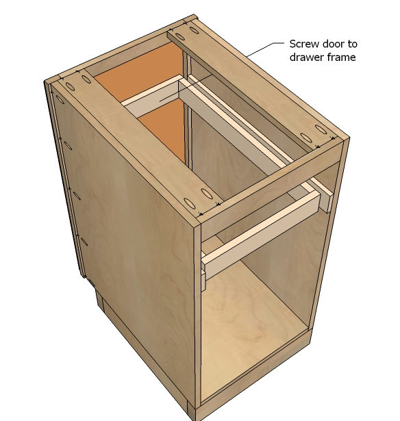 Kitchen cabinet trash can pull out Photo - 9