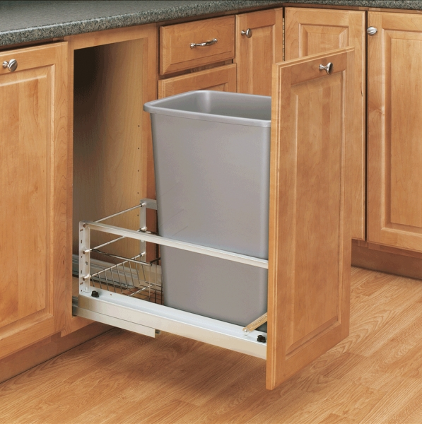 Kitchen cabinet trash can pull out Photo - 10