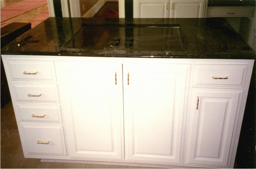 Kitchen cabinet trash can pull out Photo - 1