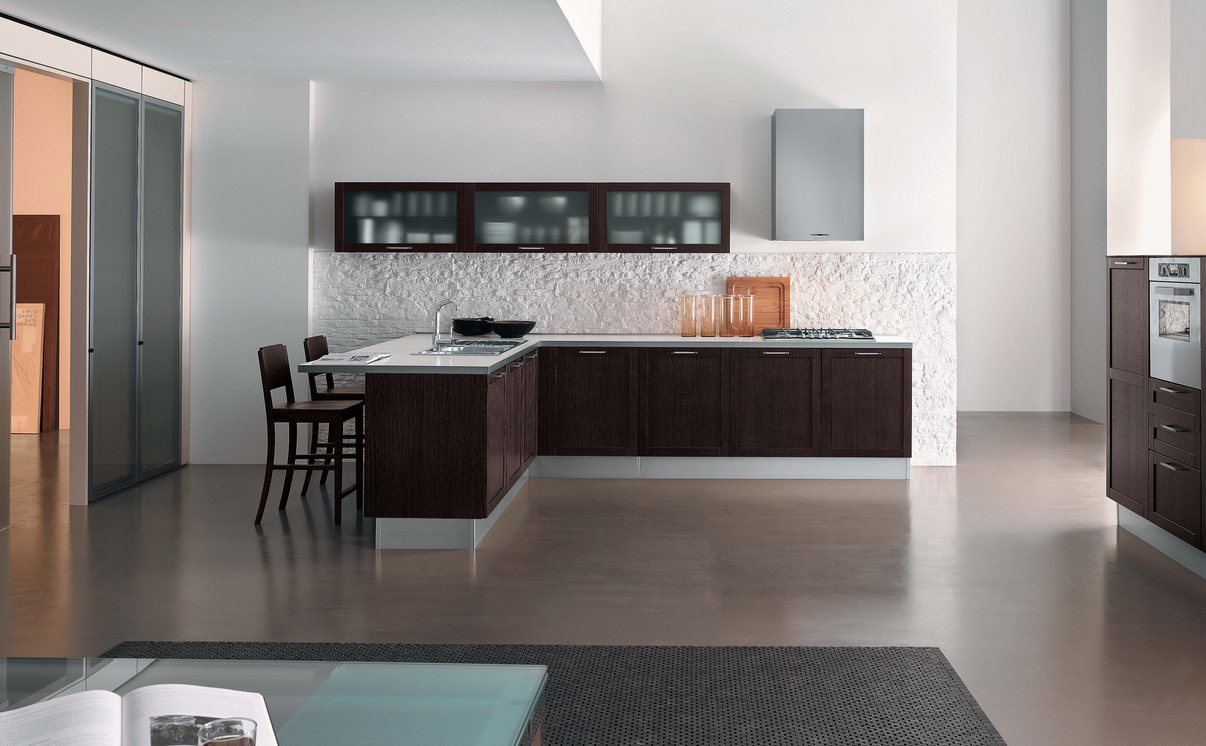 Kitchen cabinet wine rack Photo - 4