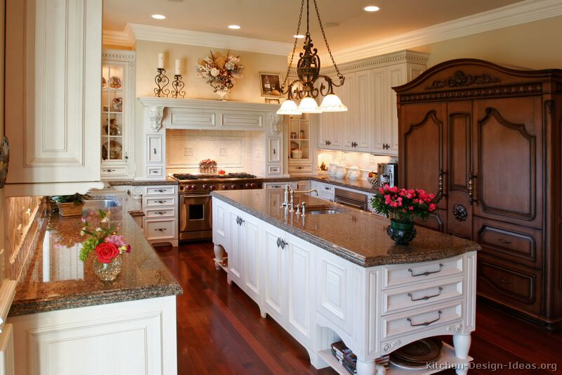 Kitchen cabinet with hutch Photo - 8