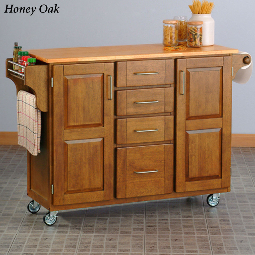 Kitchen Cabinets On Wheels: Small White Kitchen Island On Wheels