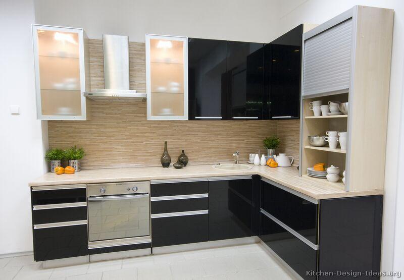 Kitchen cabinets shelves Photo - 11