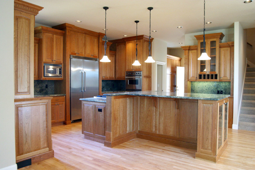 Kitchen cabinets with sliding doors Photo - 12