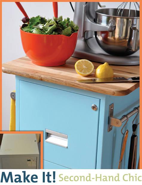 Kitchen cart cabinet Photo - 7