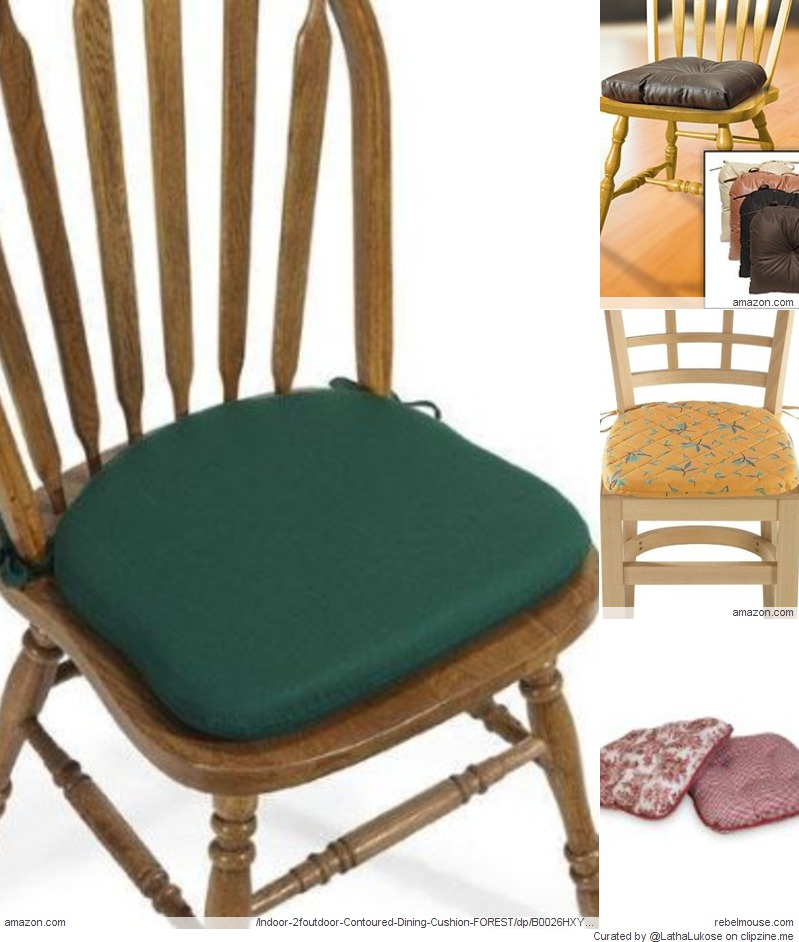 Kitchen chair cushions with ties Photo - 1