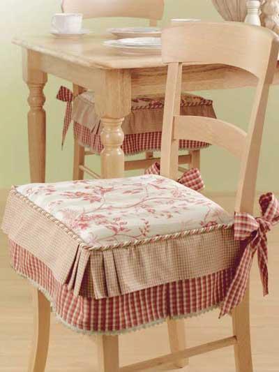 Kitchen chair seat cushions Photo - 2