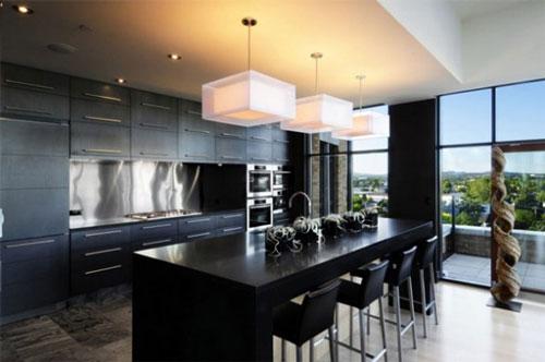 Kitchen chairs black Photo - 1