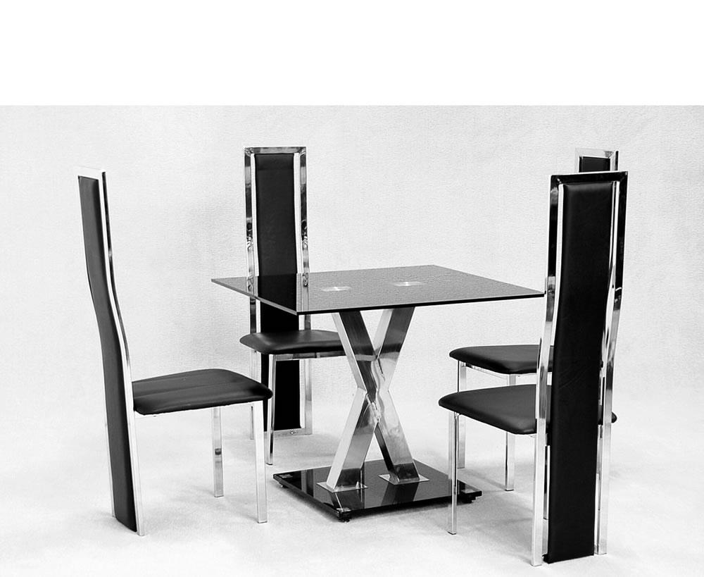 Kitchen chairs black Photo - 7
