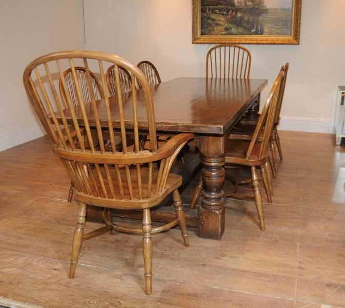Kitchen chairs oak Photo - 8