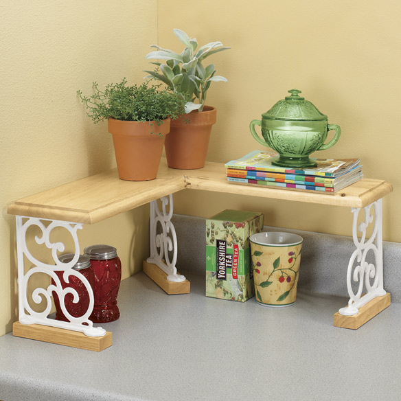 Kitchen Counter Corner Shelf Ideas