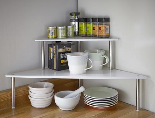 Kitchen counter corner shelf Photo  9