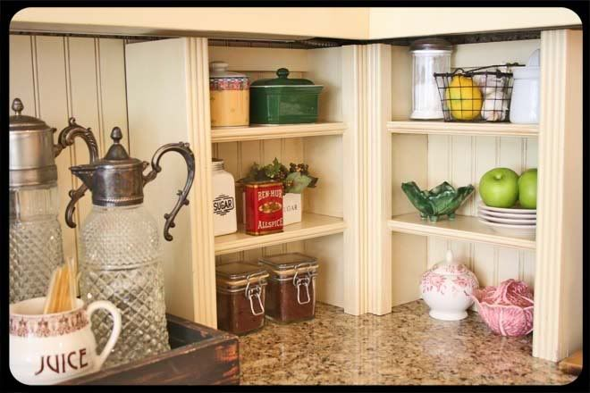 Attractive Kitchen Counter Corner Shelf Photo 1