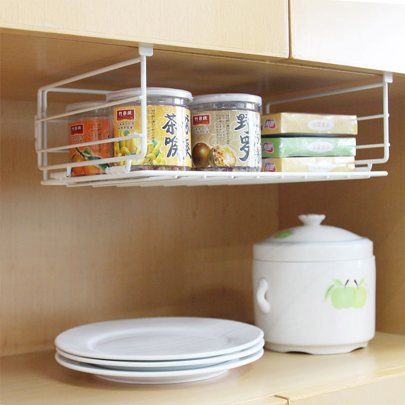 Kitchen counter organizer shelf kitchen ideas Diy under counter storage